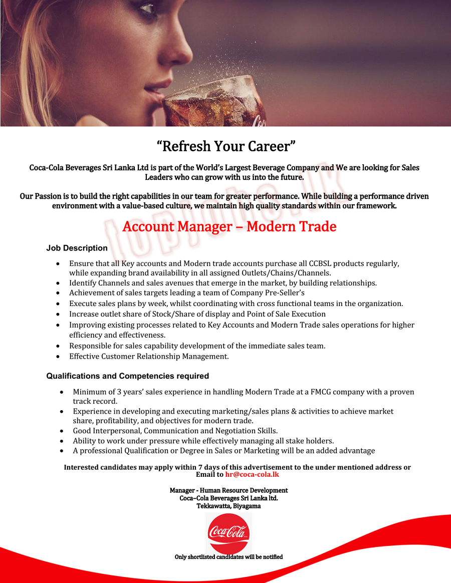 Account Manager - Modern Trade