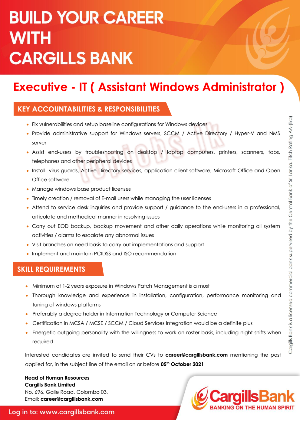 Executive - IT (Assistant Windows Administrator)